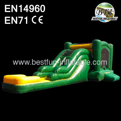 Green Inflatable Combo Moonwalk