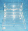 clear acrylic drawer with cup holders - hotel bathroom organizers