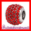 Wholeslae Red european Crystal Beads For Bracelet Making China