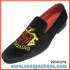 fashion style velvet slippers custom made embroidery supplier