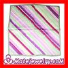 Wholeslae Small Striped Real Mulberry Silk Scarf Square Scarves For Women