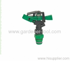 "Plastic lawn sprinkler with 3/4"" male thread tap For Full Circle Spray"
