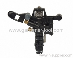 "Full or part circle spray sprinkler with G3/4"" male thread tap"