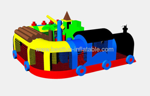 Backyard Super Inflatable Train Station Park