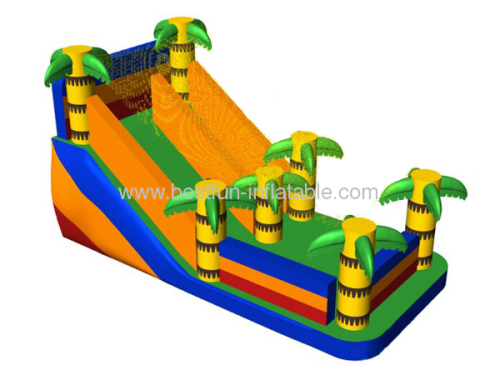 Big Palm Tree Dry Slide Inflatable