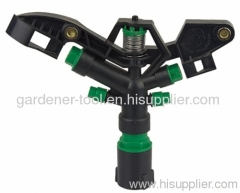 "Plastic four nozzle Irrigation water sprinkler with 1"" female thread tap"