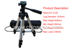 ENZE ET-3120 Light to carry 2012 Hot sale fishing rod rests,aluminium tripod Lightweight Fishing Tripod