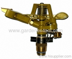 garden brass sprayer with full and part circle irrigation