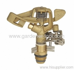 Brass Farm Irrigation sprinkler for full and part circle irrigation.