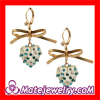 Wholeslae Cute Korean Style Crystal Drop Earrings With a Bowknot Cheap