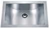 304 Stainless steel undermount single bowl handmade bathroom sink