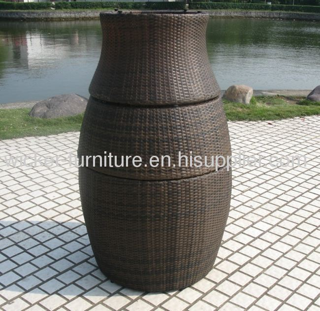 Vase wicker leisure chair and table