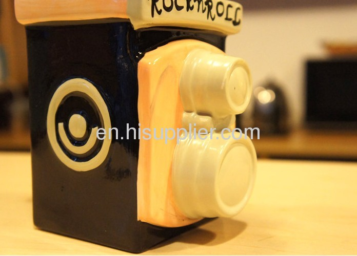 Ceramic camera money bank
