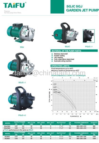 SGJ Irrigation Water Pump