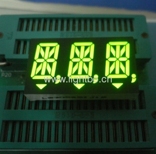 "Custom 14.2mm (0.56"") Triple Digit 14 Segment Alphanumeric LED Display For Instrument Panels"