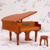 Logs grand piano music box jewelry box simulation music box