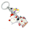 promotional Christmas gifts hot selling Christmas metal keychains