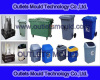 plastic injection garbage can mould manufacture