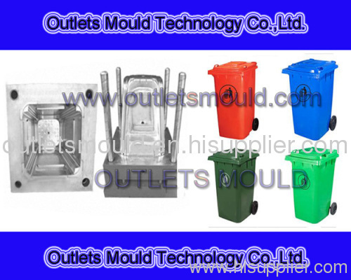 plastic injection garbage bin mould manufacture