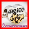 2013 New Silver Plated european Heart Shaped Message Charm Neice