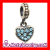 Wholeslae Sterling Silver Bubble Ring european Style Crystal Heart Pendant Cheap