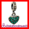 european 925 Sterling Silver Rhinestone Crystal European Heart Dangle