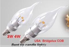 5W e27 led candle light with fog cover