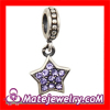 925 Silver December Birthstone Tanzanite Crystal european Star Dangle Charm