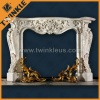 Naturla White Marble Fireplace Mantel