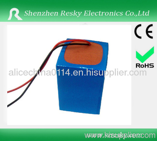 7.4V 11Ah 18650 Lithium Ion rechargeable battery pack