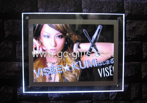 Acrylic led light boxes for poster display