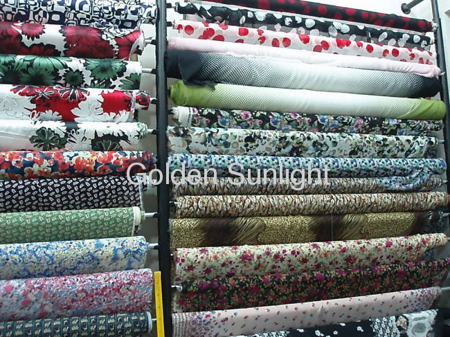 100% polyester floral design pleated chiffon fabric