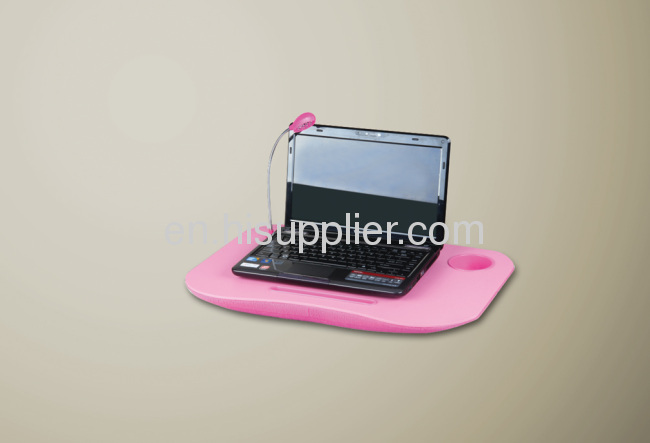 Laptop desk with led light/laptop cushion