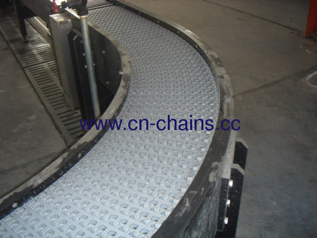 Radius flush grid conveyor belt (RW-M2540)