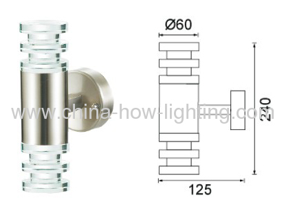 Crystal LED Wall Lamp IP44 by Steel Stainless with Epistar Chips by Surface Mounted
