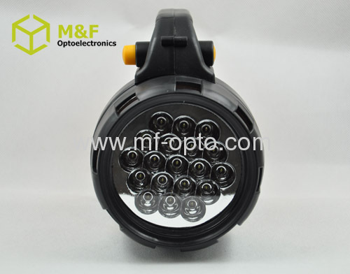 19LED lead-acid battery rechargeable handheld spotlight