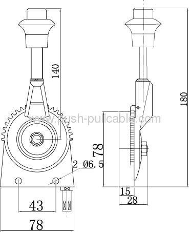Handle Control for Road Roller Throttle GJ1103A