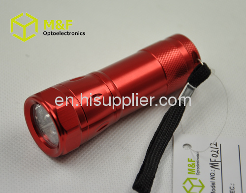 6leds aaa battery operated mini led flashlight