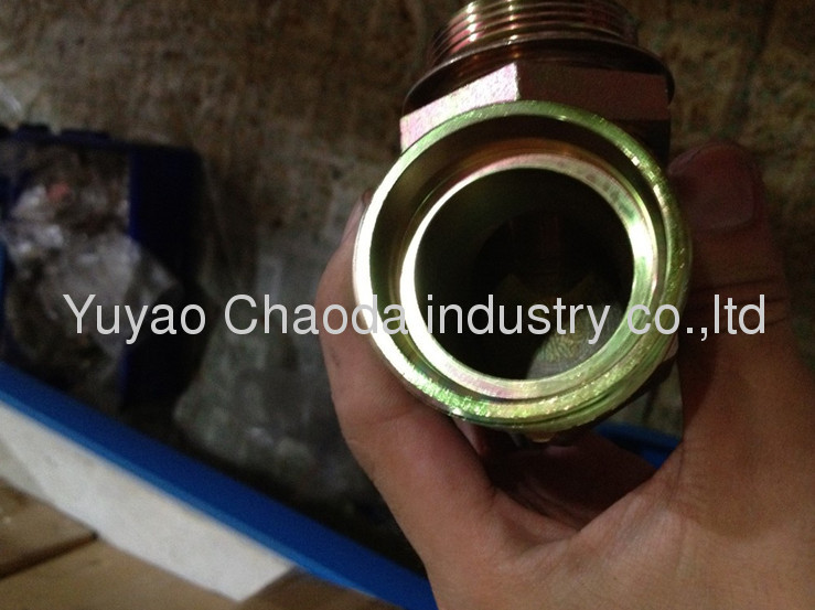 UN/UNF THREAD ADJUSTABLE STUD END WITH O-RING SEALING RUN TEE