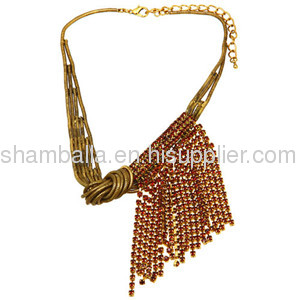2013 Cheap Vintage Style Ladies Australian Crystal Sideways Tassel Necklace