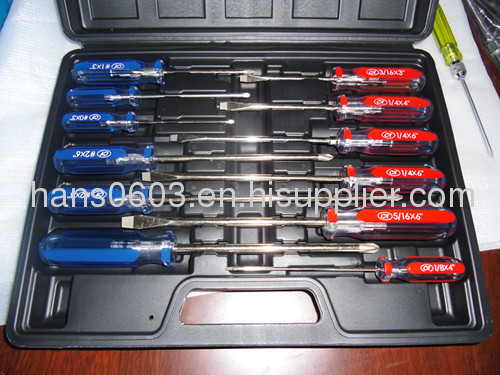 12 PCS Acetate handle screwdriver set