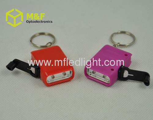 Colorful mini promotional led promotional keychain light