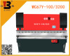 WC67-100/3200 plate hydraulic press brake