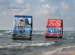 inflatable water billboard/inflatable billboard