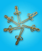 golden color butterfly curtain hook