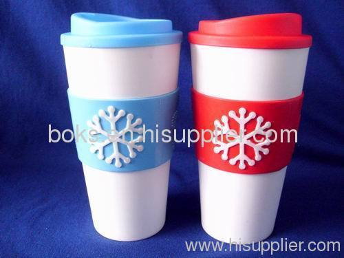 plastic Christmas double wall cups