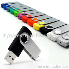 Best selling swivel usb flash drive with custom logo/capless usb stick