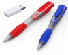 4GB Fashion plastic ballpoint pen usb flash drive with logo printed