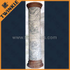 natural white marble column