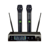 UHF dual 16 channels wireless microphone